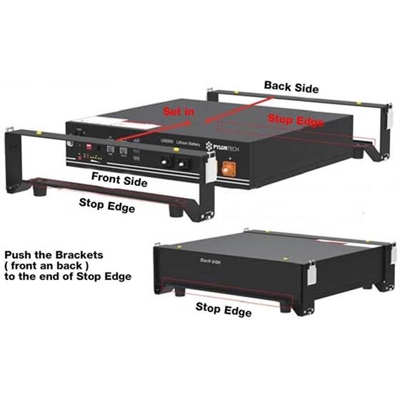 BRAC2000 - Brackes per il supporto di moduli batteria US2000
