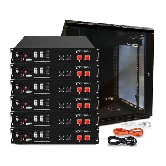 CAB19 - Cabinet 19 pollici, nero, adatto ad un massimo di 6 moduli batteria