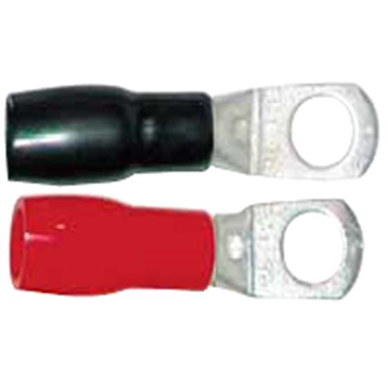 Capicorda Sez. 25mmq foro 8mm - da grimpare/saldare con guarnizione isolante nera/rossa