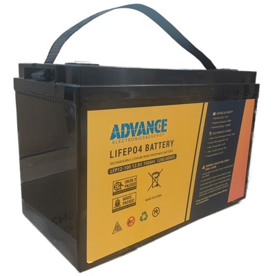 LFP12-100 - Batteria Litio ADVANCE LiFePO4 12,8V / 100Ah
