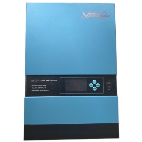 Inverter Alto voltaggio 5000VA/5000W/48V - 500 Vcc max ingresso solare - Caricatore solare MPPT 80Amp - ULTIMO PEZZO